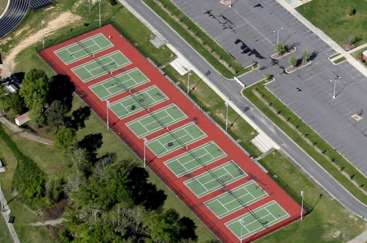 Rock Hill High School Tennis Courts Rehabilitation - Rock Hill, SC