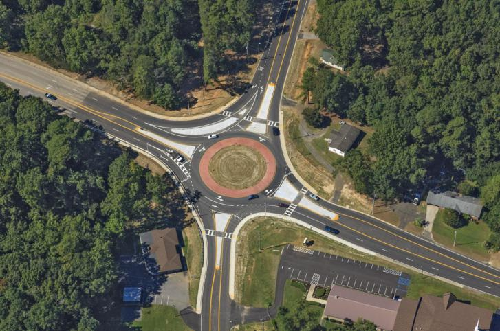 S-120 (Piney Grove Rd) @ S-674 (Piney Woods Rd) Roundabout - Richland County, SC